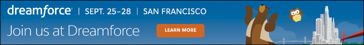 Dreamforce. Sept 25–28 | San Francisco. JOIN US AT DREAMFORCE. Learn More.